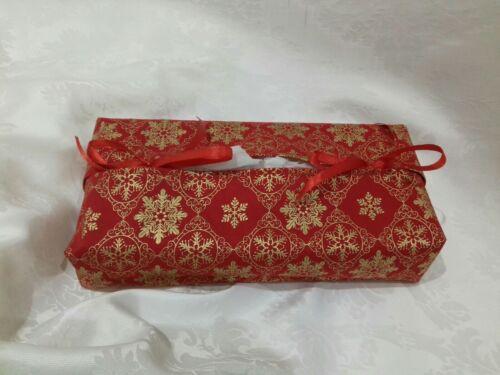Lovely quality Red Christmas fabric Handmade Kleenex Tissue Box Cover