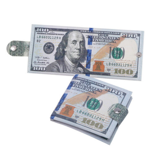 Creative Various Country Paper Money Pattern Wallet Holder Coin Purse Organizer
