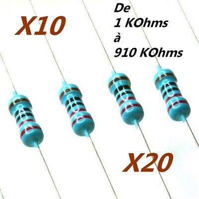 RESISTANCE 1//4W 0,25W 3 ohms  5/% lot de 2 à 50 pièces prix dégressif