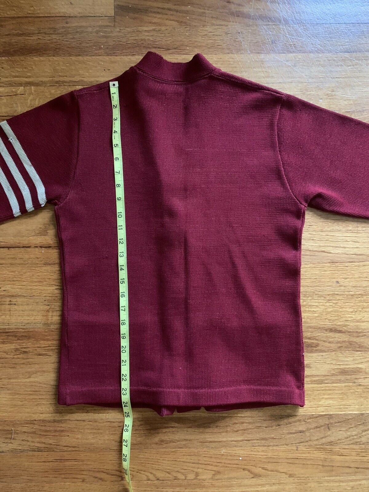 40's/50's Letterman Sweater Knit Cardigan Button … - image 11