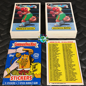gratuit Cire Wrapper OS14 Garbage Pail Kids 14th Série 14 complète 88-Carte Set 1988