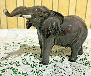 BESWICK-ELEPHANT-TRUNK-STRETCHING-SMALL-GREY-GLOSS-FINISH-No-974-PERFECT