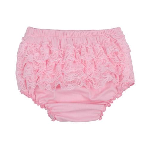 Baby Girl Lace Ruffle Short Froncé Pantalon Couches Housse Bloomers Pettiskirt 3-24 M