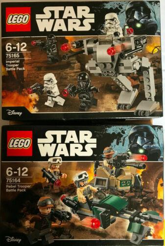 BOITE SET LEGO STAR WARS NEUF 75165 75164 REBEL /& IMPERIAL TROOPERS BATTLE PACK