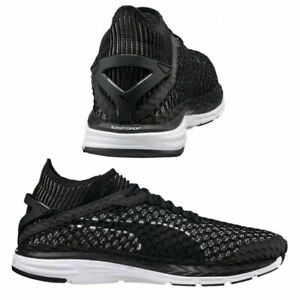 Puma-Speed-Ignite-NetFit-Lacets-Baskets-Homme-Noir-Blanc-189937-05-M15