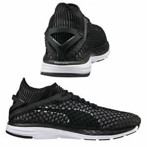 Puma-Speed-Ignite-netfit-Lacci-Sneaker-Uomo-Nero-Bianco-189937-05-M15