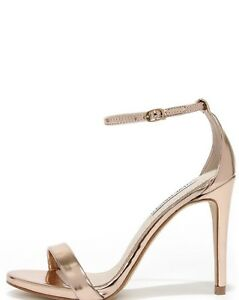 97d45bf5ec79 Image is loading Steve-Madden-Stecy-Rose-Gold-Heels-Sandals-Shoes-