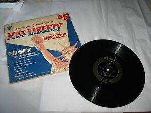 FRED WARING & HIS PENNSYLVANIANS Miss Liberty Irving Berlin Record Album DECCA