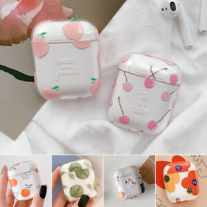 For Apple Airpods Charging Case Transparent Fruit Case Protective Pc Cover Skin Ebay