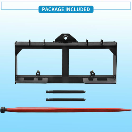 Details about  /3 Point Hay Bale Spear Attachment 49/'/'inch Tractor Skid Steer Loader Quick Tach