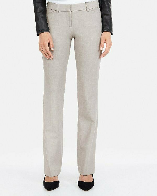 NEW EXPRESS MUTED STONE LOW RISE BARELY BOOT EDITOR DRESS PANTS SIZE 00R 00