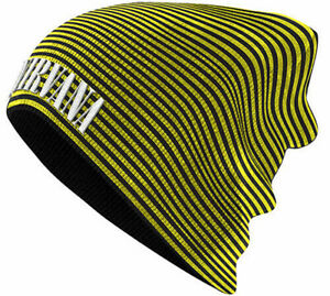 Nirvana-Black-Knitted-Embroidered-Slouch-Beanie-Warm-Winter-Hat