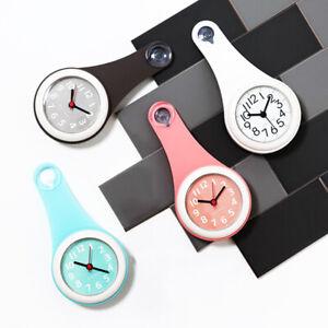 Silicone Salle de bains cuisine Douche Ventouse Horloge Murale Silencieux imperméable mode