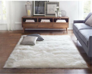 Details about White Faux Fur Rugs Sheepskin Home Carpets Shaggy Bedroom  Rugs Sofa Mats