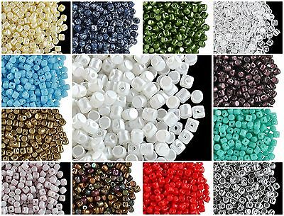 CHOOSE COLOR 5g 2.5x3mm Minos® par Puca® Beads Czech Pressed Glass