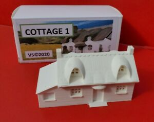 N-Gauge-Thatched-Cottage-Building-3D-Printed-White