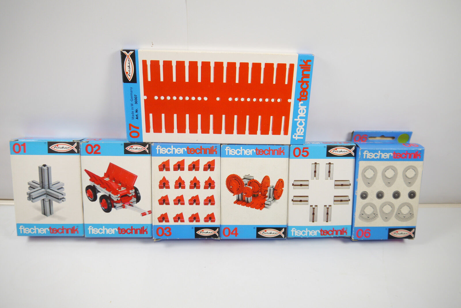 Fischertechnik 7 Various 01 - 07 Supplement Box - Nip (Mf12) A