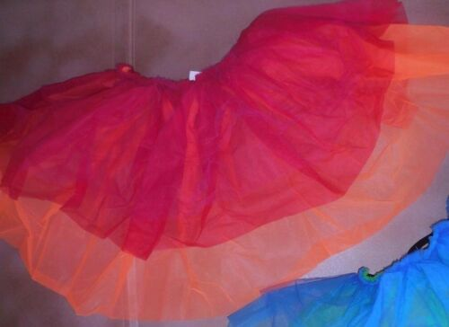NWT 3 layer back bustle dance costume item 2 color ways ch//ladies sizes blue//red