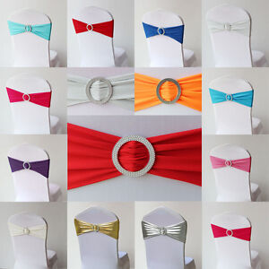 Stretch-Chair-Bow-with-Brooch-Bow-Bands-for-Chair-Covers-10-PCs