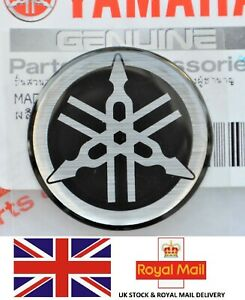 Yamaha Genuine 25mm Tuning Fork Black Silver Gel Decal Sticker Badge Uk Stock Ebay