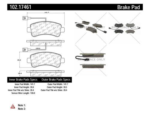 C-TEK Metallic Brake Pads fits 2014-2016 Ram ProMaster 1500,ProMaster 2500,ProMa