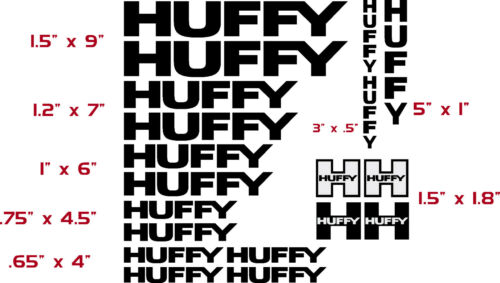 HUFFY  BICYCLE VINYL CUT DECAL KIT $13..99   FREE SHIPPING//CHOOSE COLOR 16