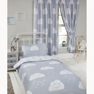 Details about HAPPY CLOUDS LINED CURTAINS 66\