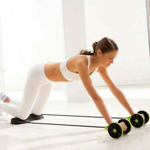 Abdominal Waist Slimming Trainer Exerciser Roller Core Double AB WheWR