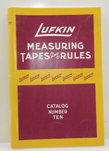 REPRINT of the 1920 Lufkin Measuring Tapes & Rules Catalog No. 10 (INV J606)