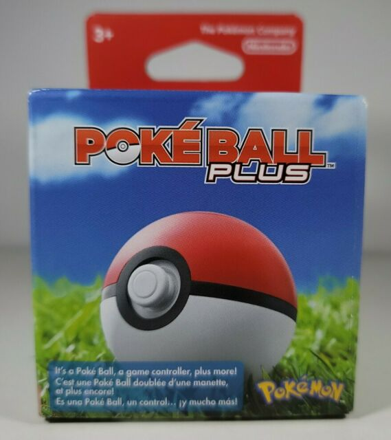Poke Ball Plus for Pokemon Go & Let's Go Pikachu and Eevee Nintendo Switch NEW