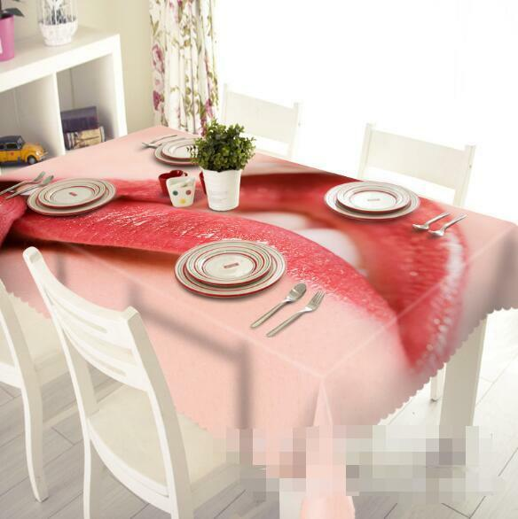 3D rouge mouth 7 Tablecloth Table Cover Cloth Birthday Party Event AJ WALLPAPER AU