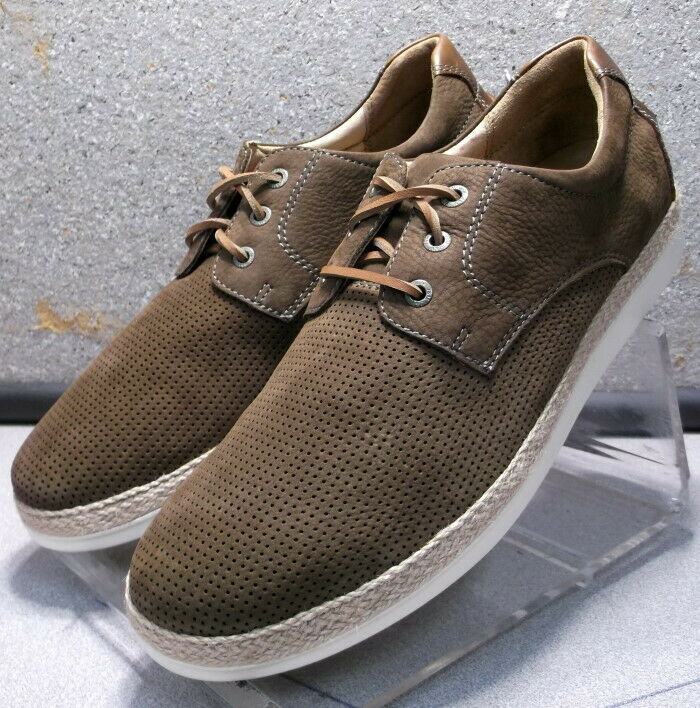 252672 ES50 Men's shoes Size 10 M Brown Leather Lace Up Johnston & Murphy