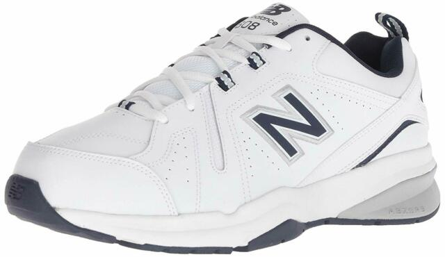 New Balance Mens MX608 Low Top Lace Up Walking Shoes, White/Navy, Size 8.5 D1YM