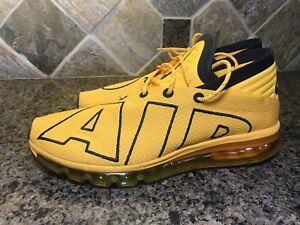 9c69a2c77c Nike AIR MAX FLAIR UpTempo UNIVERSITY GOLD BLACK 942236-700 New Sz ...