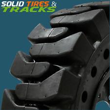 4 No Flats 14 17536x13 2014x175 Solid Skid Steer Tires Rims Heavy Duty