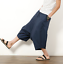 Men/'s Japanese Samurai Boho Harem Hakama Linen Cotton Pants Trousers Shorts HOT