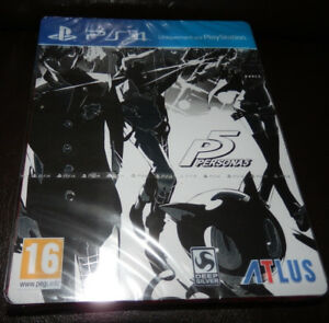 PERSONA-5-Edition-Limitee-Steelbook-PlayStation-4-NEUF-Sous-Blister
