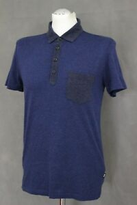 HUGO-BOSS-Mens-SLIM-FIT-Navy-ARPINO-Short-Sleeved-POLO-SHIRT-Size-Small-S