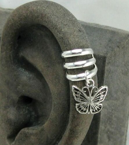 Solid Sterling Silver Ear Cuff Upper Helix Cuff with Charm