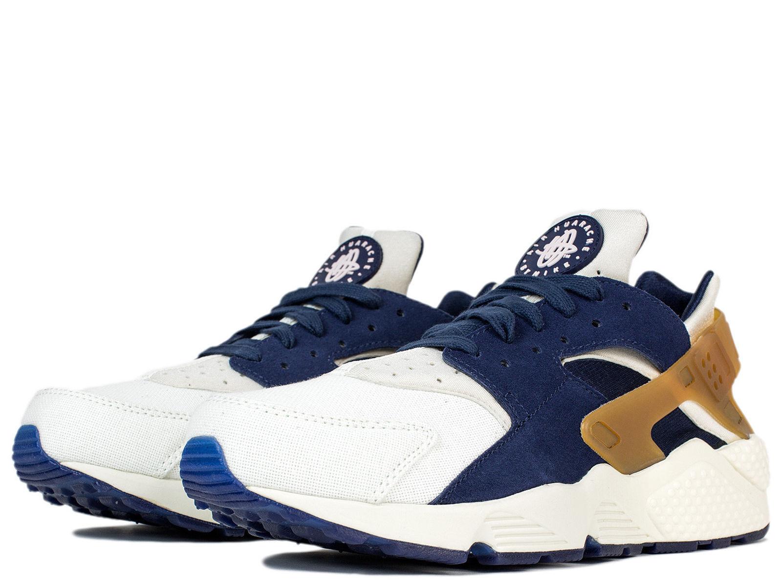 44ad6e5576d Nike Air Huarache Run Premium Silver Royal Black Olive 683818-007 Men shoes  9.5