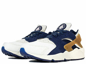 official photos 9609e 3ff45 Image is loading Nike-Air-Huarache-Run-Premium-Silver-Royal-Black-