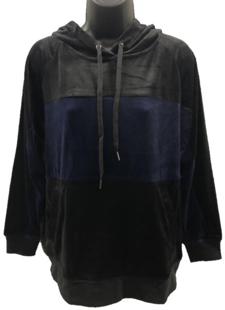 Buy Champion Elite Womens Faux Velvet Velour Hoodie Black Size XL ... 8e06c511a0