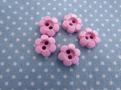 11mm and 15mm Pink Rim Flower Daisy 2 Hole Buttons in Packs of 5 10 or 20