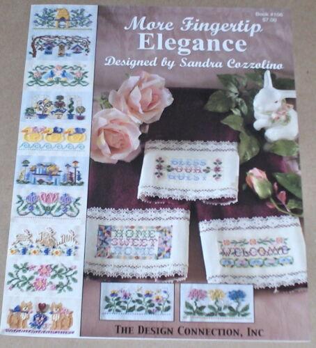 "Floral Cats Rabbits Birds + /""Fingertip Elegance/"" Cross Stitch Towel Patterns"