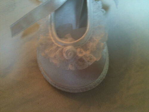Baby Deer Satin and Lace Crib//Christening Shoes Sizes 0,3 Specialty Baby