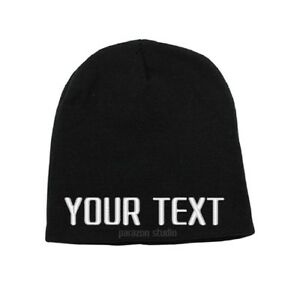 Image is loading Custom-Embroidered-Personalized-Ski-Toboggan-Knit-Uncuffed- Beanie- 522674ee0ab
