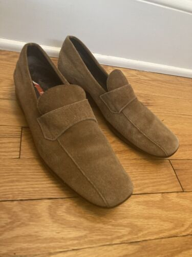Prada Suede Loafers Driving Shoes 38.5 Women