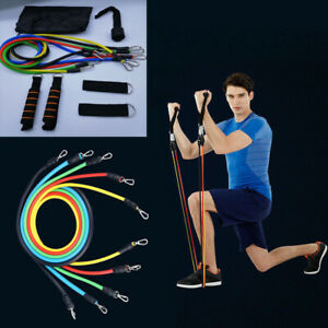 Set-11Pcs-Bande-de-Resistance-Elastique-Musculation-GYM-Yoga-Fitness
