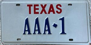GENUINE-Texas-Vanity-AAA-USA-License-Licence-Number-Plate-Tag-AAA-1
