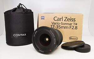 Contax-Carl-Zeiss-Vario-Sonnar-T-17-35mm-f-2-8-Lens-AS-IS-With-Box-Case-Etc